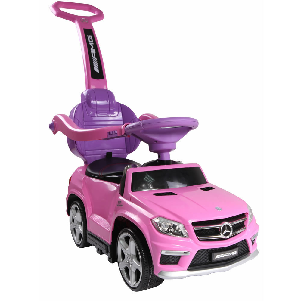 Licensed Mercedes Benz GL63 Kids Convertible Ride On Push Car - Pink
