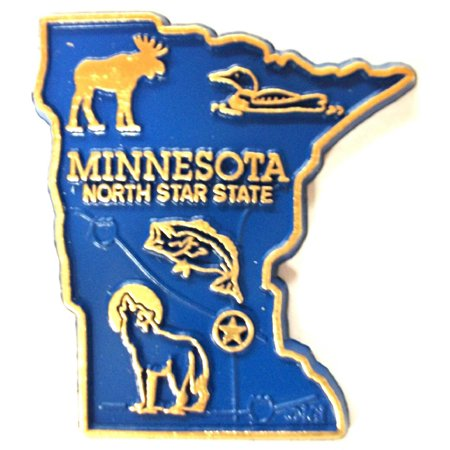 Minnesota the North Star State Map Fridge Magnet