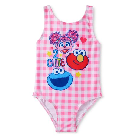 Sesame Street Elmo, Cookie Monster & Abby Cadabby Bow-Back Swimsuit (Baby Girls) - Abby Cadabby Clothes