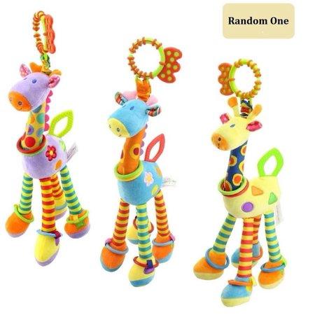 - Cute Animal Soft Baby Rattles Giraffe Crib Toys Teether for Girls Boys Infant Newborn Musical Toys Best Chrismas Gift