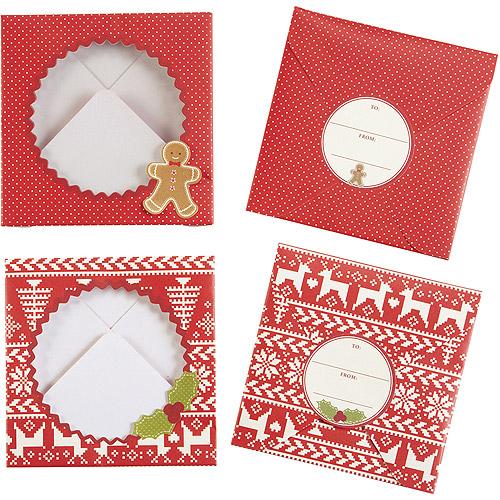 "Treat Envelopes 5""X5"" 8/Pkg-Cottage Christmas"