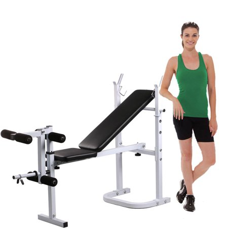 UBesGoo Olympic Weight Lifting Bench Set,  Adjustable Incline/Decline Press Equipment, with Leg Lift Curl Developer Extension, 440 lb Weights Capacity