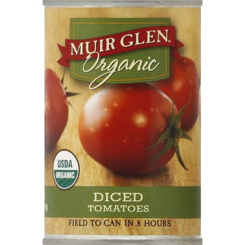 Muir Glen Diced Tomatoes, 14.5 oz (Pack of 12)