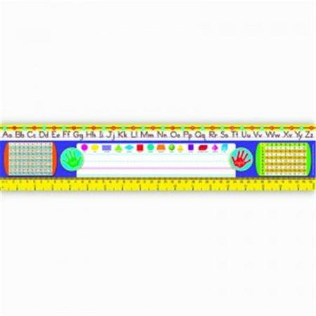 Trend Enterprises T-69402BN Reference Size Name Plates Grade 2-3 Zaner-Bloser Desk Toppers - Pack of 3