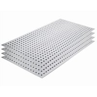 Alligator Board ALGBRD17X33GALVKIT Metal Pegboard Panel Kit without Flange/10 Hooks/Gloves - Pack of 4