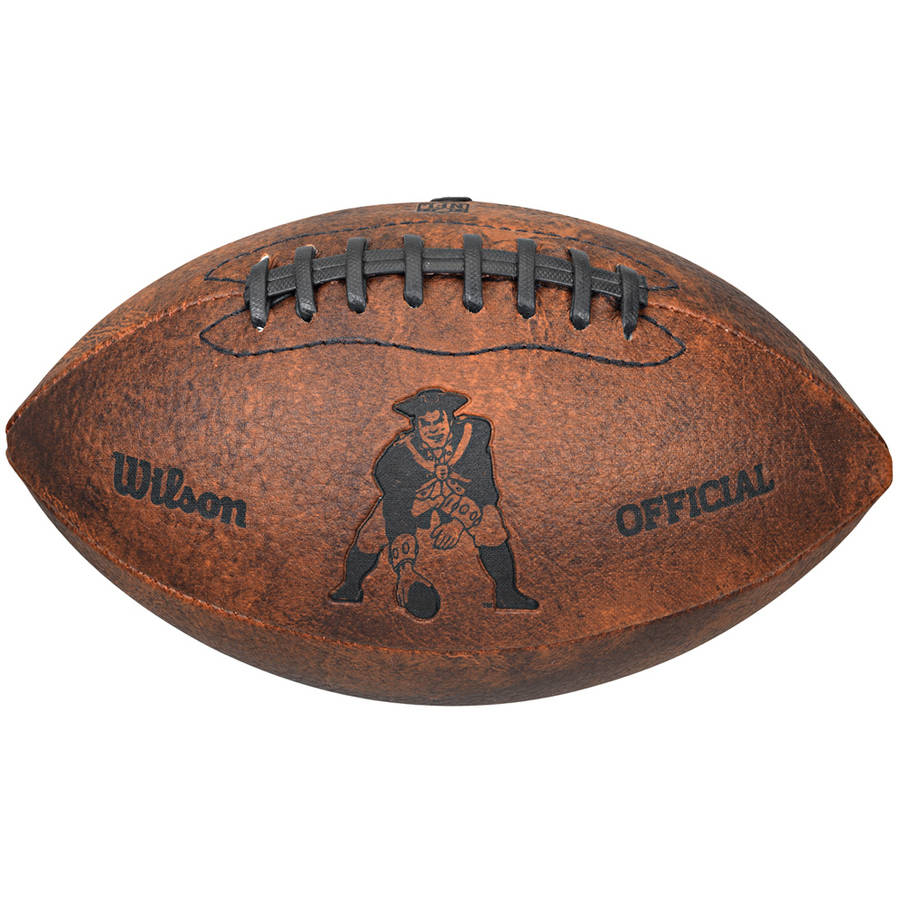 "Wilson NFL 9"" Throwback Football, New England Patriots"