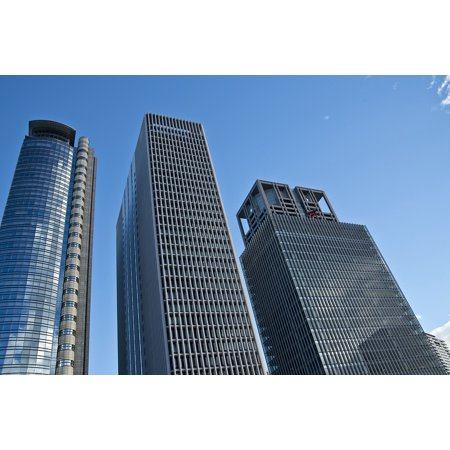 LAMINATED POSTER Job High Rise Building Business Bill Blue Sky City Poster Print 24 x 36 (Rise Lantern City)