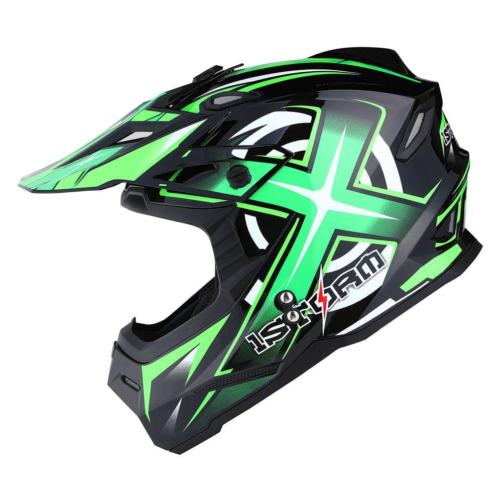 1Storm Youth Motocross Helmet BMX MX ATV Dirt Bike Helmet Teenager Racing Style; Matt Black