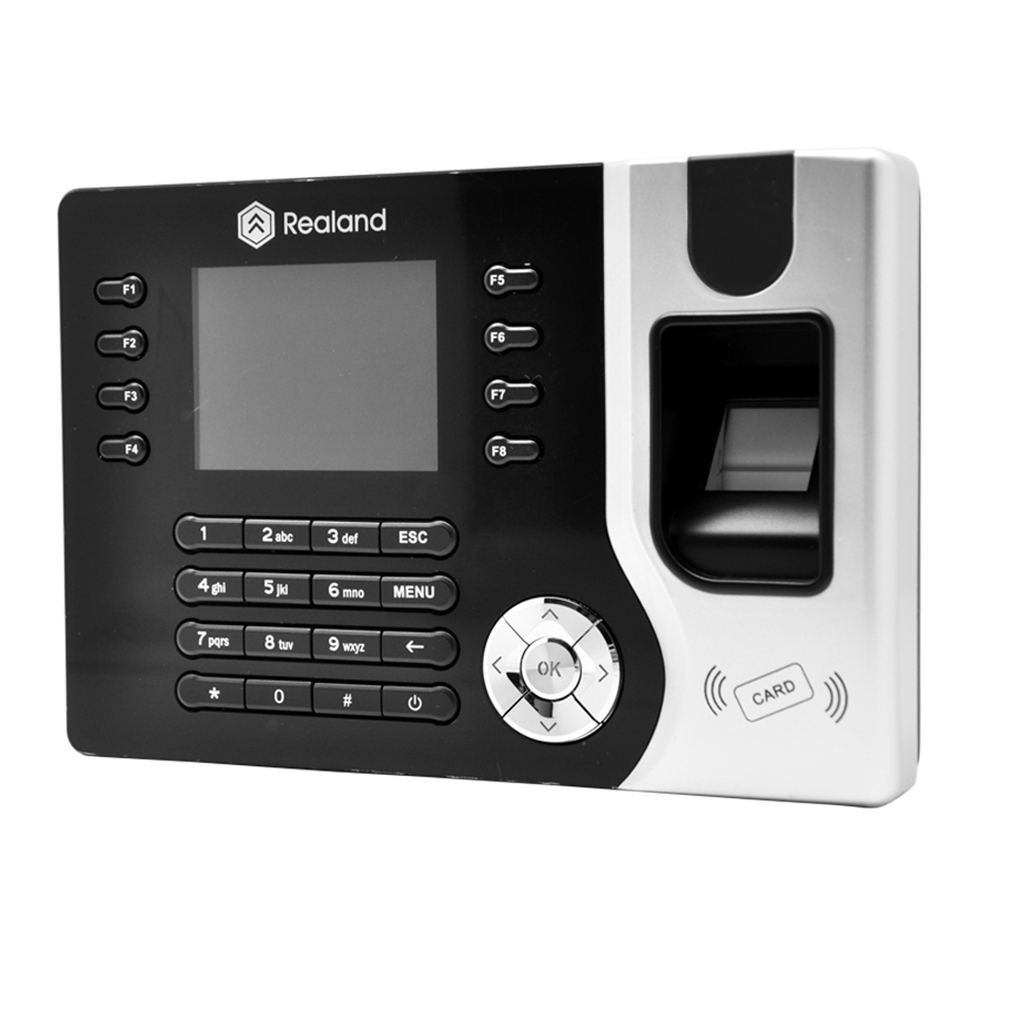 "A-C071 2.4"" Biometric Fingerprint Attendance Time Clock With ID Card Reader+USB"