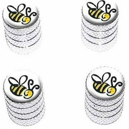 Gold Enameled Bumble Bee - Bumble Bee Tire Rim Wheel Aluminum Valve Stem Caps, Multiple Colors