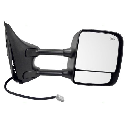 - Passengers Side View Tow Mirror Power Heated Memory Telescopic Dual Arms Replacement fits 04-15 Nissan Titan Pickup Truck 96301ZR20E