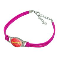 WWE Hot Ronda Rousey Novelty Suede Leather Metal Bracelet