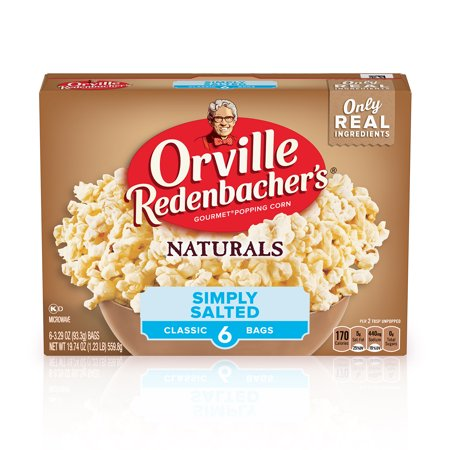 Orville Redenbacher's Naturals Simply Salted Popcorn, 3.29 Oz, 6 Ct