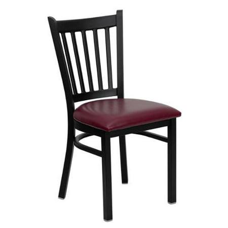 Restaurant Seating Commercial Metal (Flash Furniture HERCULES Series Vertical Back Metal Restaurant Chair - Vinyl Seat )