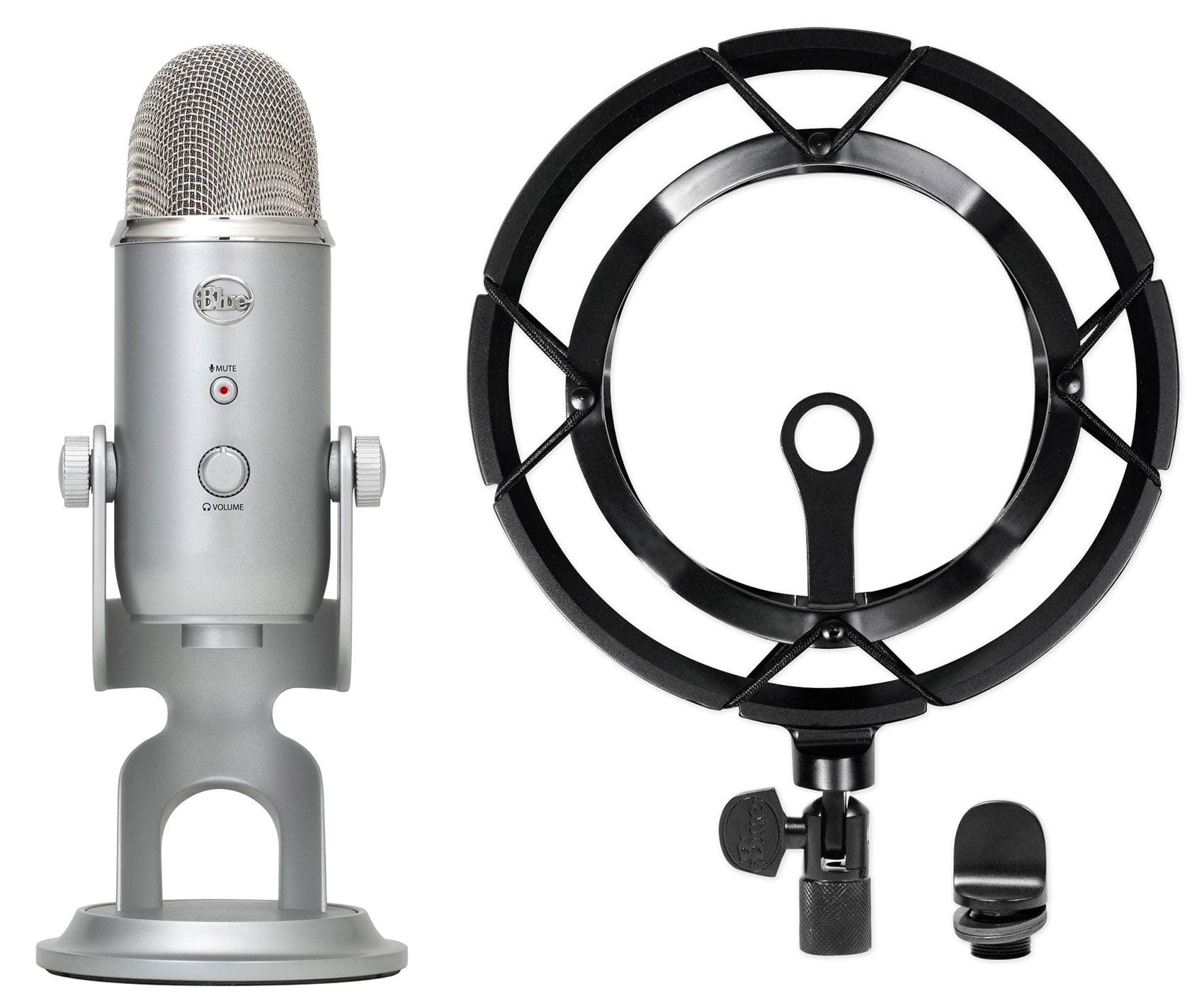 blue yeti studio usb recording microphone podcast podcasting mic shockmount. Black Bedroom Furniture Sets. Home Design Ideas