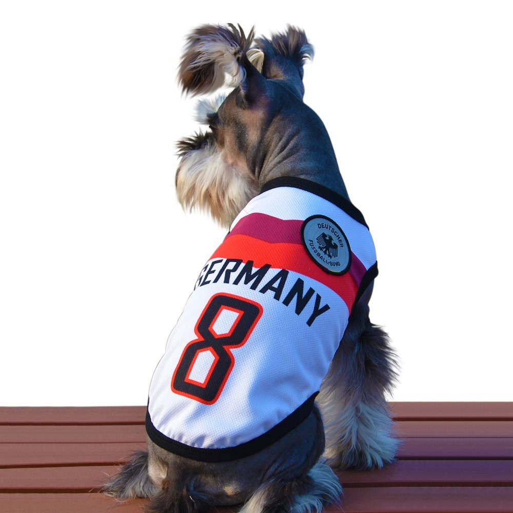 f1bcadfd9 Dog Clothes Football T-shirt Dogs Costume National Soccer 2018 World Cup  FIFA Jersey for Pet Germany