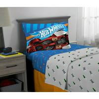 Hot Wheels Sheet Set, Kids Bedding, 3-Piece Twin Size