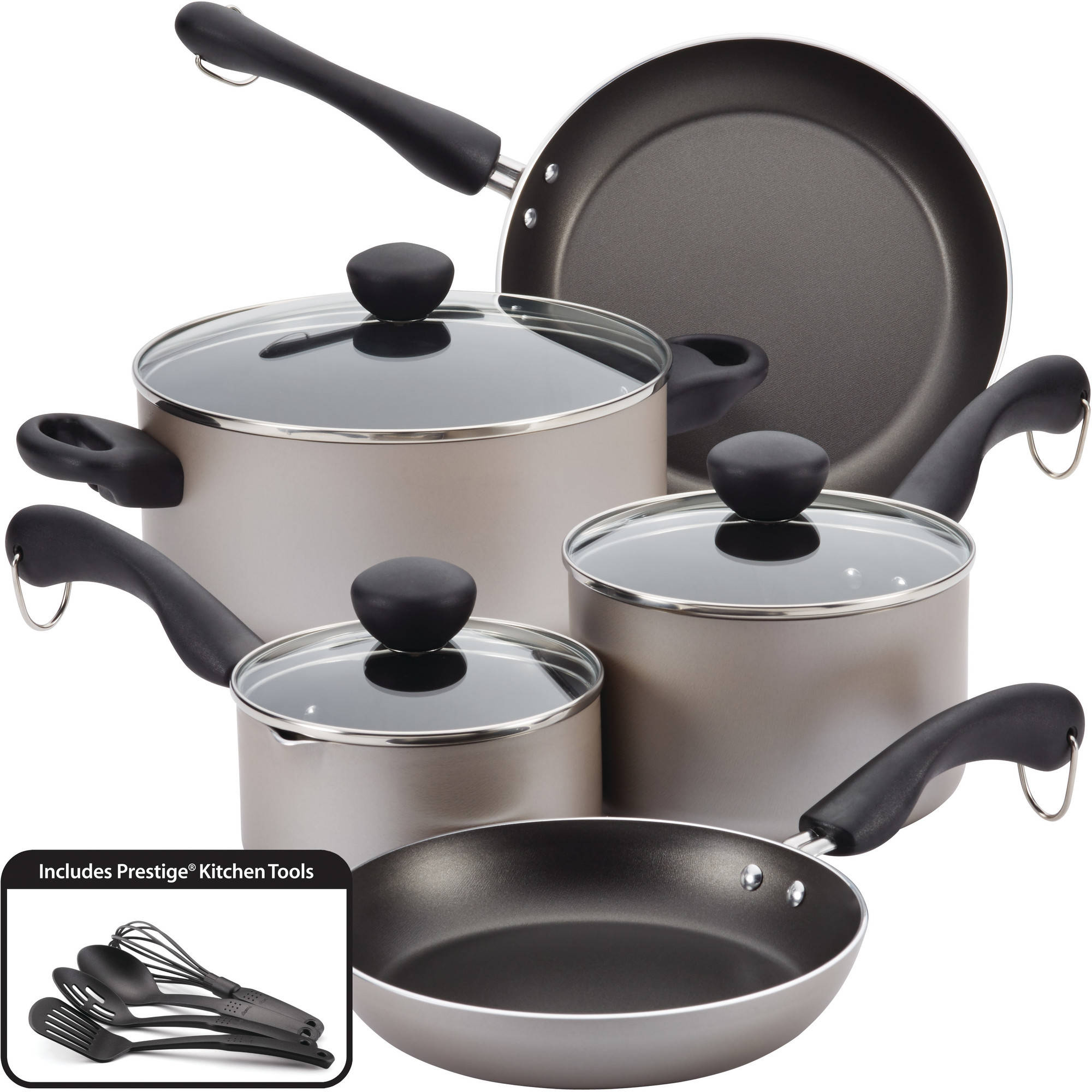 Farberware Easy Clean Dishwasher Safe Aluminum Nonstick 12-Piece Cookware Set