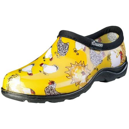 Sloggers Women's Waterproof Chicken Print Comfort Shoes
