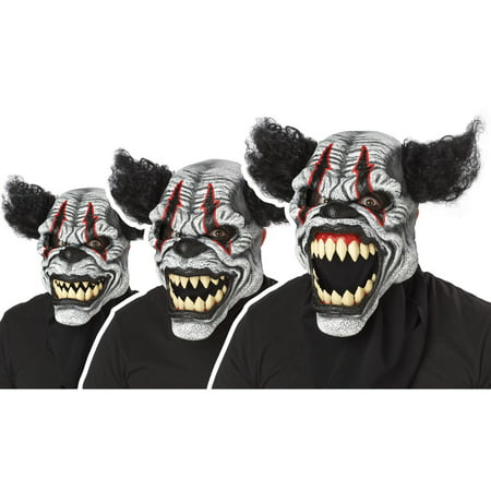 Last Laugh Clown Ani-Motion Adult Mask](Crazy Clown Masks)
