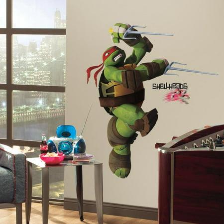 Teenage Mutant Ninja Turtles RAPHAEL GIANT WALL DECALS Stickers Kids Room Decor (Ninja Turtle Decals)