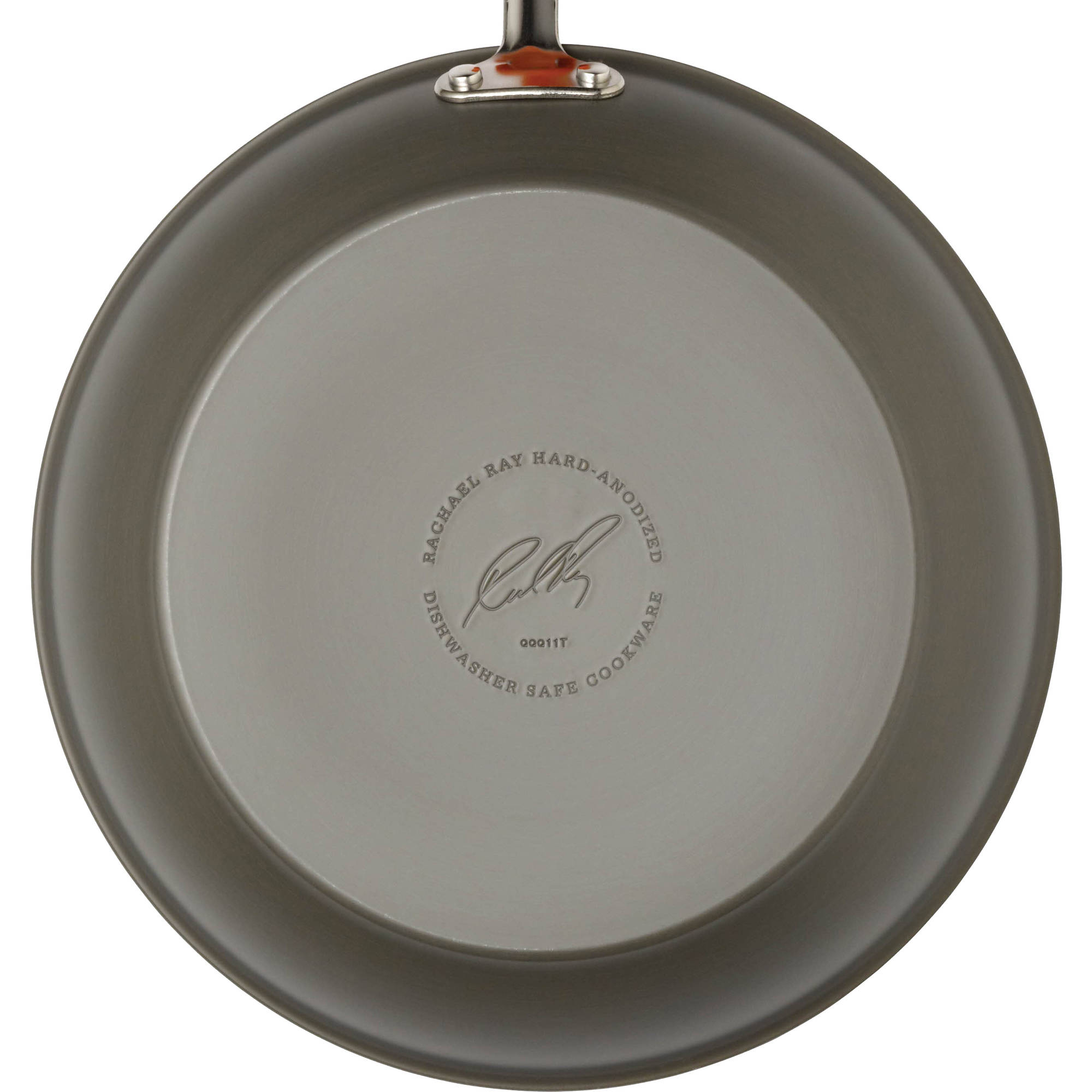 Rachael Ray Hard-Anodized Nonstick 12-1/2-Inch Skillet, Gray with ...