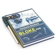 bloke pad handyman a5 notepad notebook with screwdriver-designed pencil and eraser by the source
