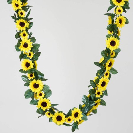 6FT Artificial Sunflower Silk Flower Garland Chain Wedding Arch Gazebo -