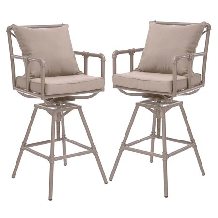 Outdoor Adjustable Bar Stool Set Of 2 Walmart Com
