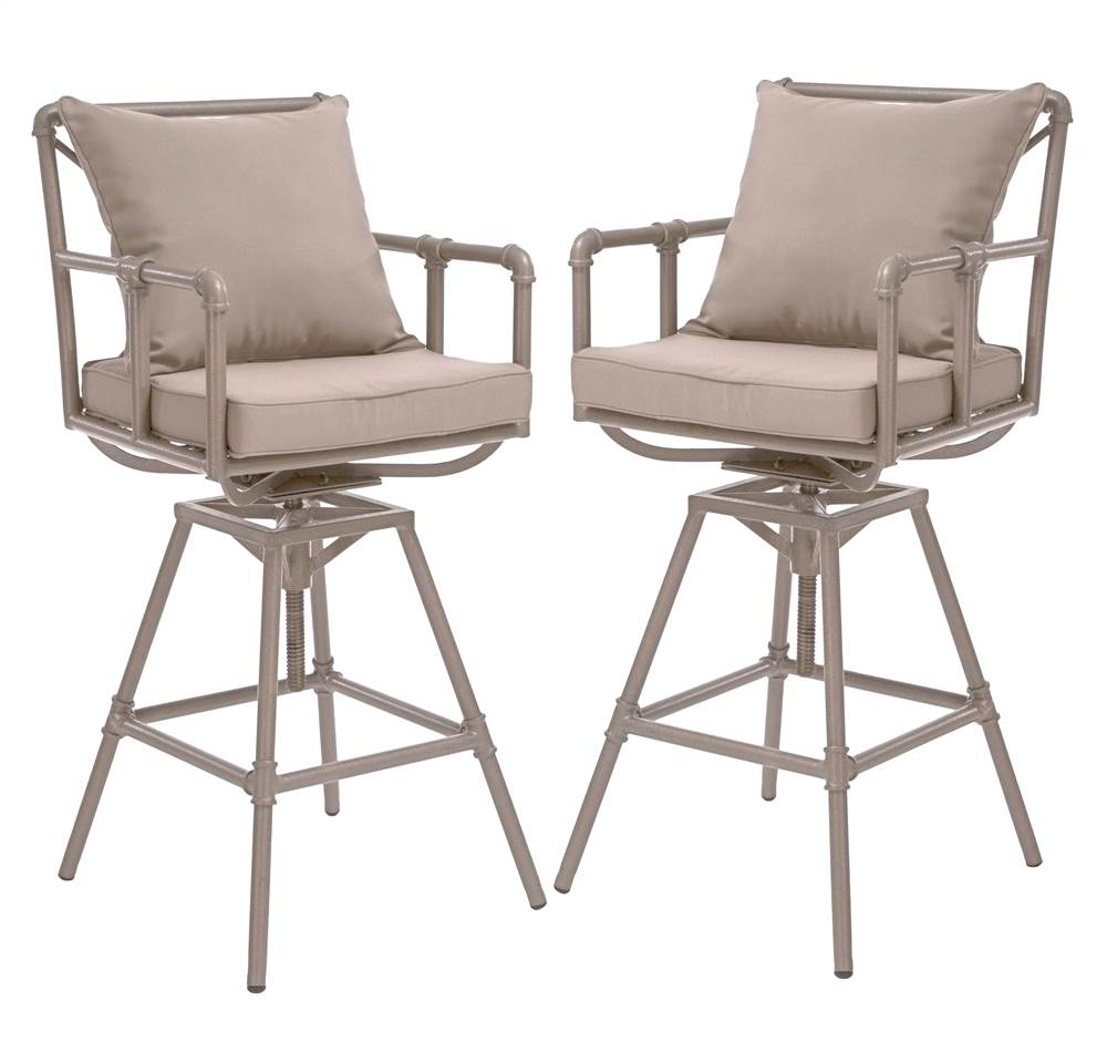 Outdoor Adjustable Bar Stool - Set of 2