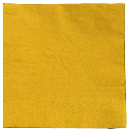Exquisite Disposable Beverage & Cocktail Napkins - Bulk 50 Count - Yellow - High Quality Paper Napkins for Dinners, Luncheons, Birthday Parties, Weddings, Bridal & Baby Showers Yellow Cocktail Napkins