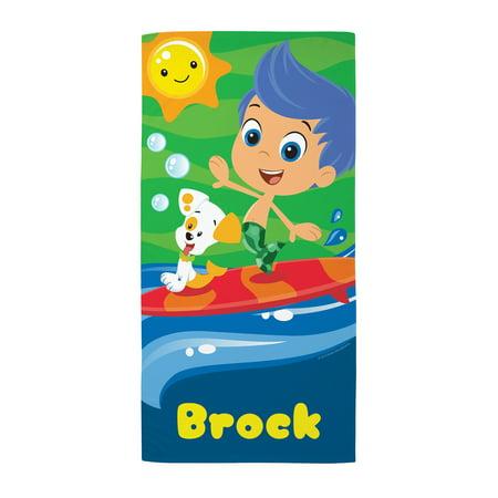 Personalized Bubble Guppies Gil Kids Microfiber Beach Towel