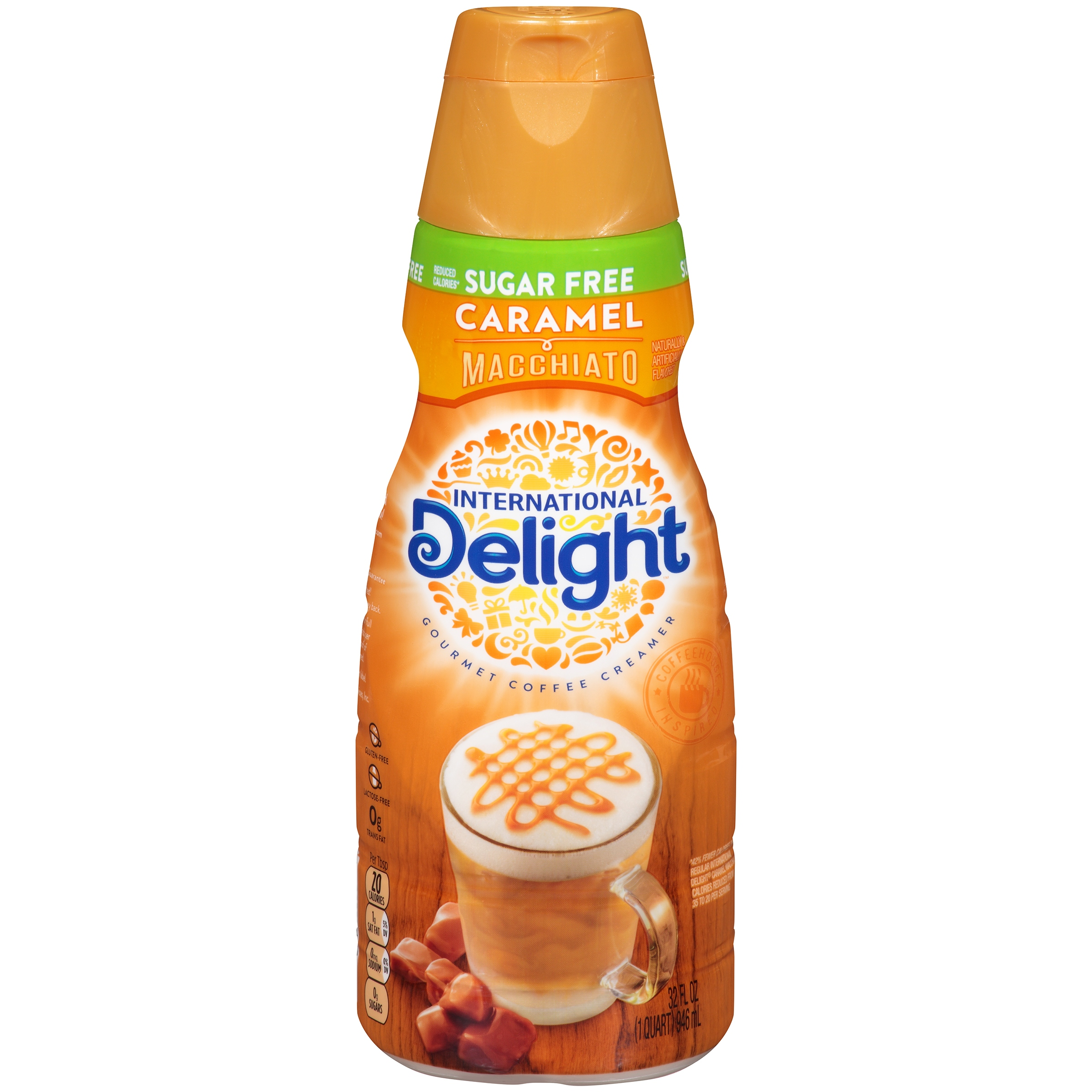 International Delight Sugar Free Caramel Creme Coffee Creamer, 32 oz