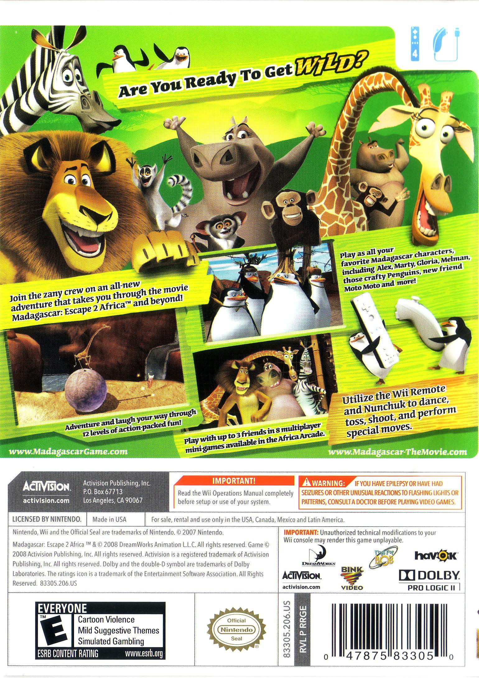 Madagascar 2 Escape 2 Africa Wii Walmart Com Walmart Com