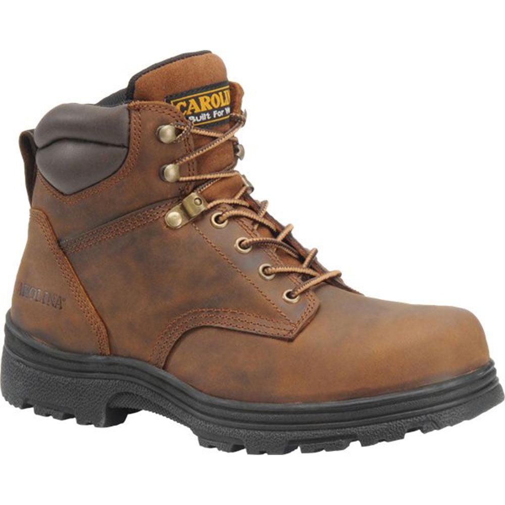 Carolina Mens 6 inch Plain Toe Broad Toe Waterproof Hiker by Carolina