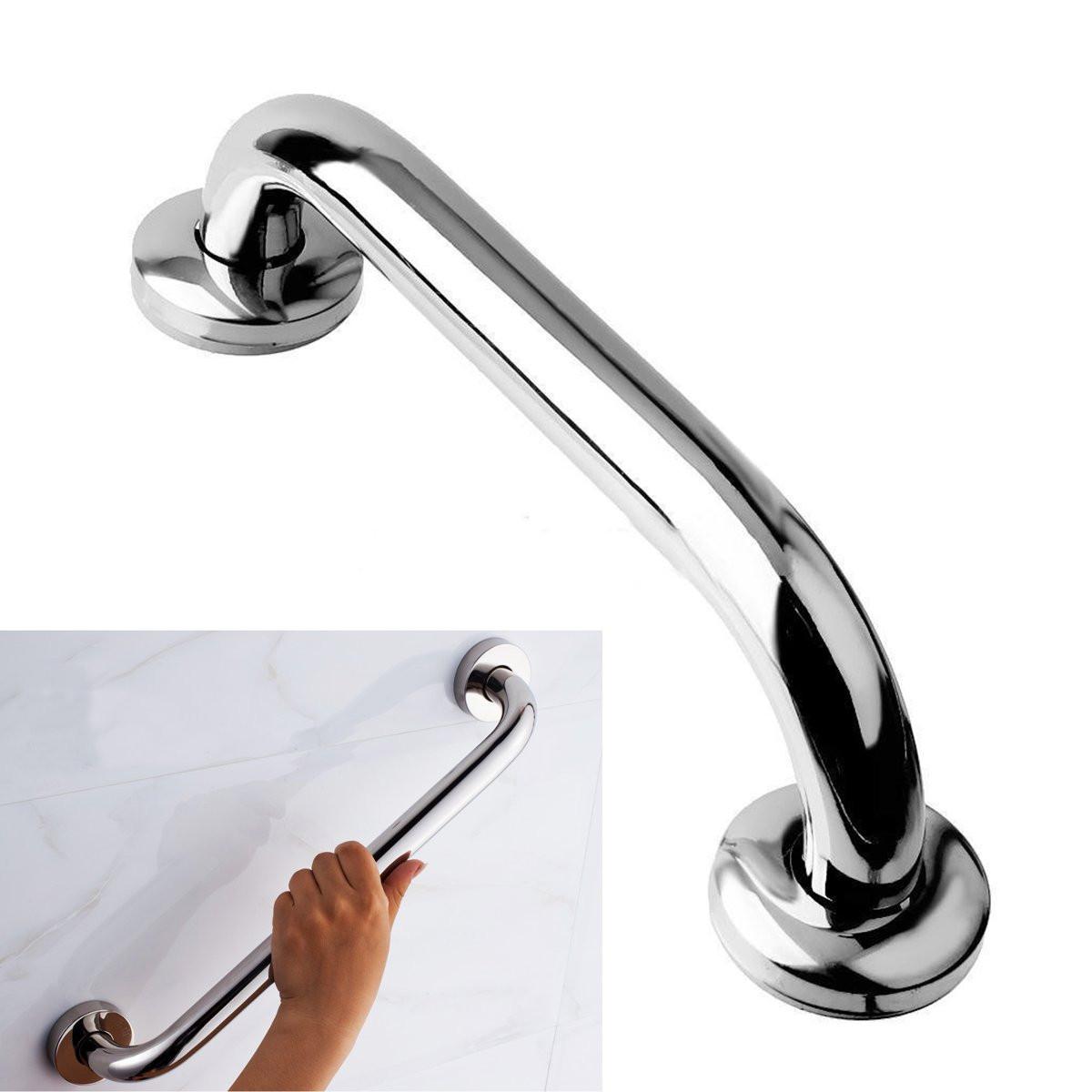Stainless Steel Grab Bar Handle Chrome Bathroom Shower Tub Handgrip 25CM