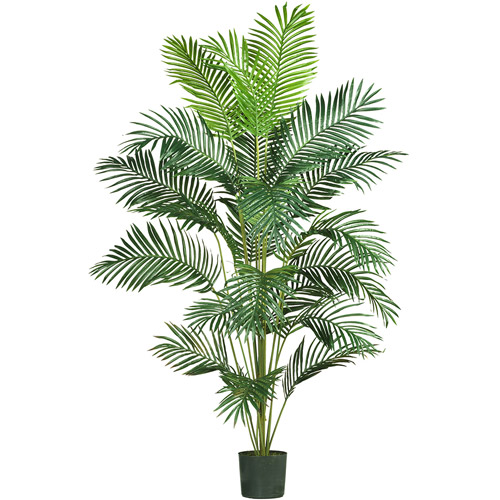 1 LARGE ARTIFICIAL 6FT SILK GREEN PLASTIC LATEX PALM ARECA TREE BULK PLANT