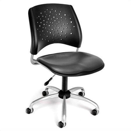 Scranton & Co Swivel Office Chair with Vinyl Seats in Charcoal - image 1 de 1