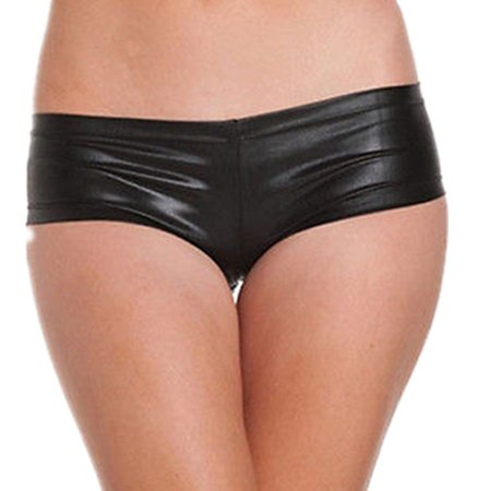 Sexy Women Shiny Metallic Hotpants Strentchy Shorts Pants Dancewear Clubwear (Sexy Dancewear)