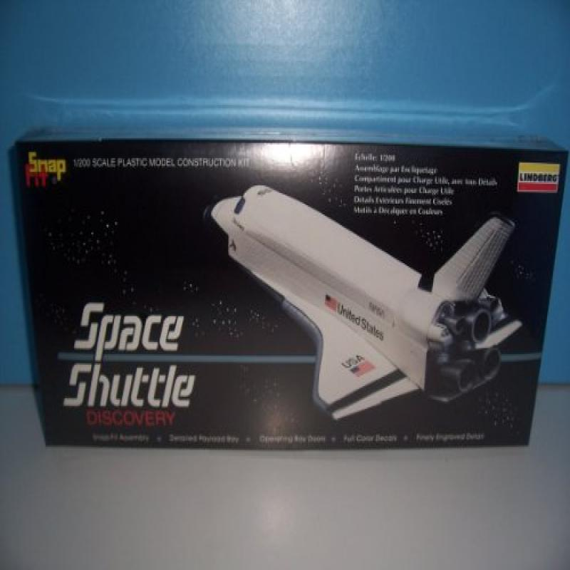 #99001 Lindberg Space Shuttle Discovery Snap Fit 1/200 Scale Plastic Model Kit,Needs Assembly