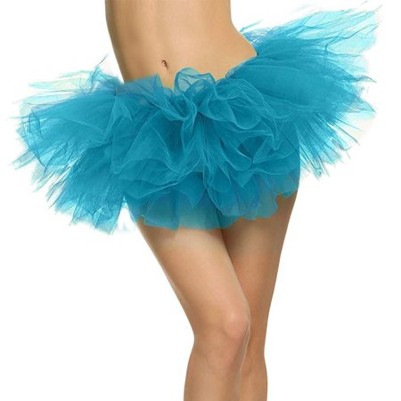 5 Layers Organza Ballet Tutu Bustle Costume Dance Ballerina Skirt, Sky Blue