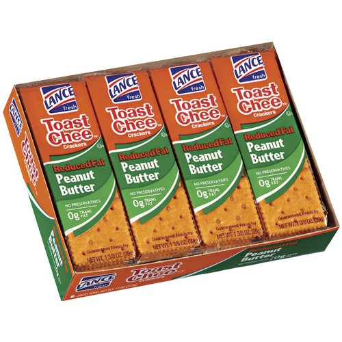 Lance Toastchee Reduced Fat Peanut Butter Sandwich Crackers, 1.375 oz, 8 count