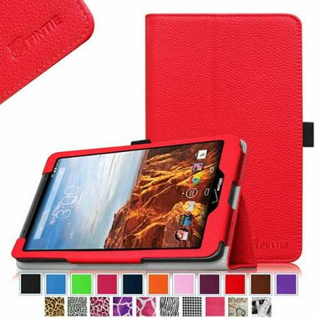 Verizon Ellipsis 8 Case - Fintie Premium Vegan Leather Folio Cover for Verizon Ellipsis 8 4G LTE Tablet, Red