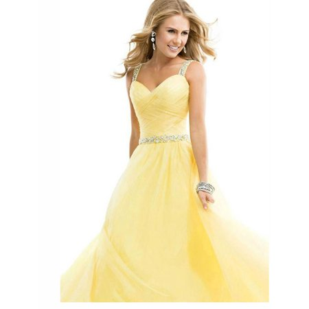 Women Wedding Prom Dresses Decorated with Sequin Long Length Gown ...