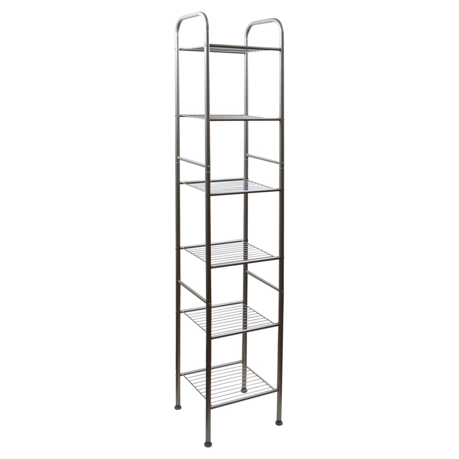 5 Tier Bathroom Shelving Unit Storage Rack Corner Shelf Organization Rack Tower