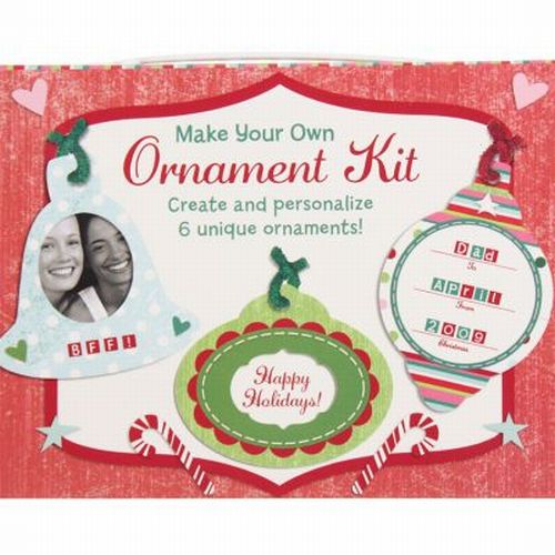Make Your Own Christmas Ornament Kit Add Photo Decorate Stickers Garland Glitter
