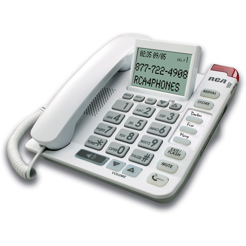 RCA Amplified Corded Telephone with Speakerphone and Caller ID