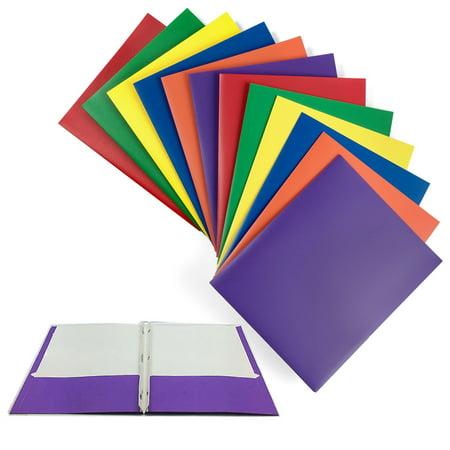 X Style Prongs (4 X Portfolio 2 Pockets Binder Document Folder Organizer 3 Prong Assorted Colors)