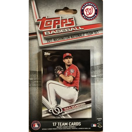 Washington Nationals 2017 Topps Factory Sealed Special Edition 17 Card Team Set with Bryce Harper and Max Scherzer