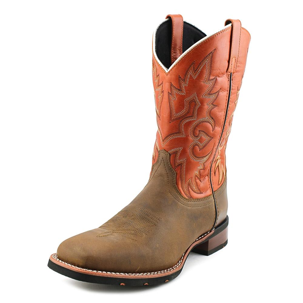 Laredo Salt Lick Men EW Square Toe Leather Orange Western Boot